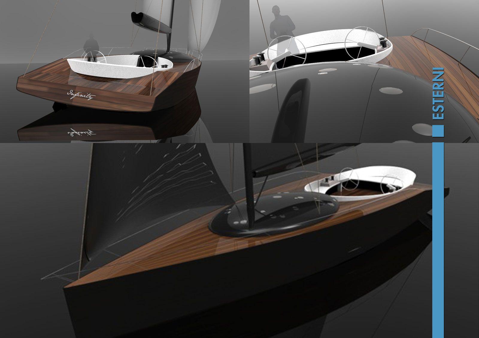 Infinity Sailing Boat Concept - Exterior Renderings - Car Body Design