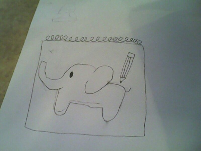 I made this elephant,and it is so CUTE!