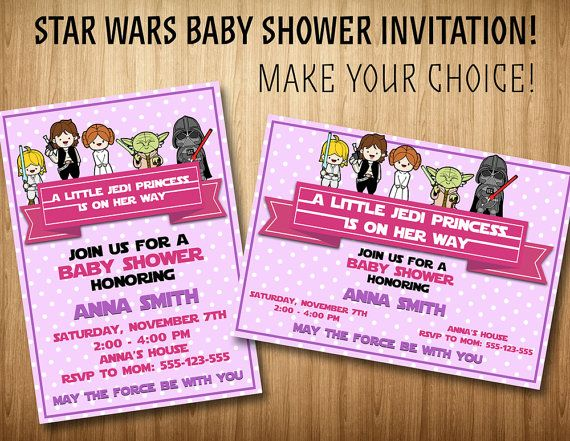 Star Wars Baby Shower Invitation By