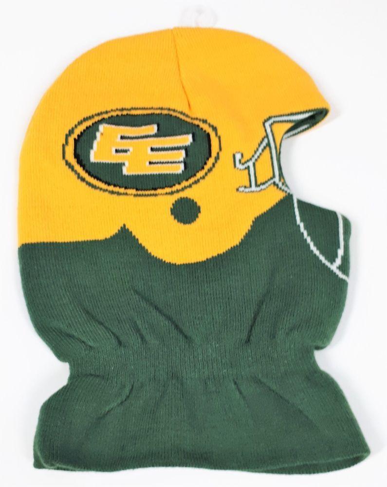 finest selection bd864 0c3ed CFL Canadian Football League Edmonton Eskimos Balaclava Hat Green and  Yellow New  GlobalEdgeBrands  EdmontonEskimos