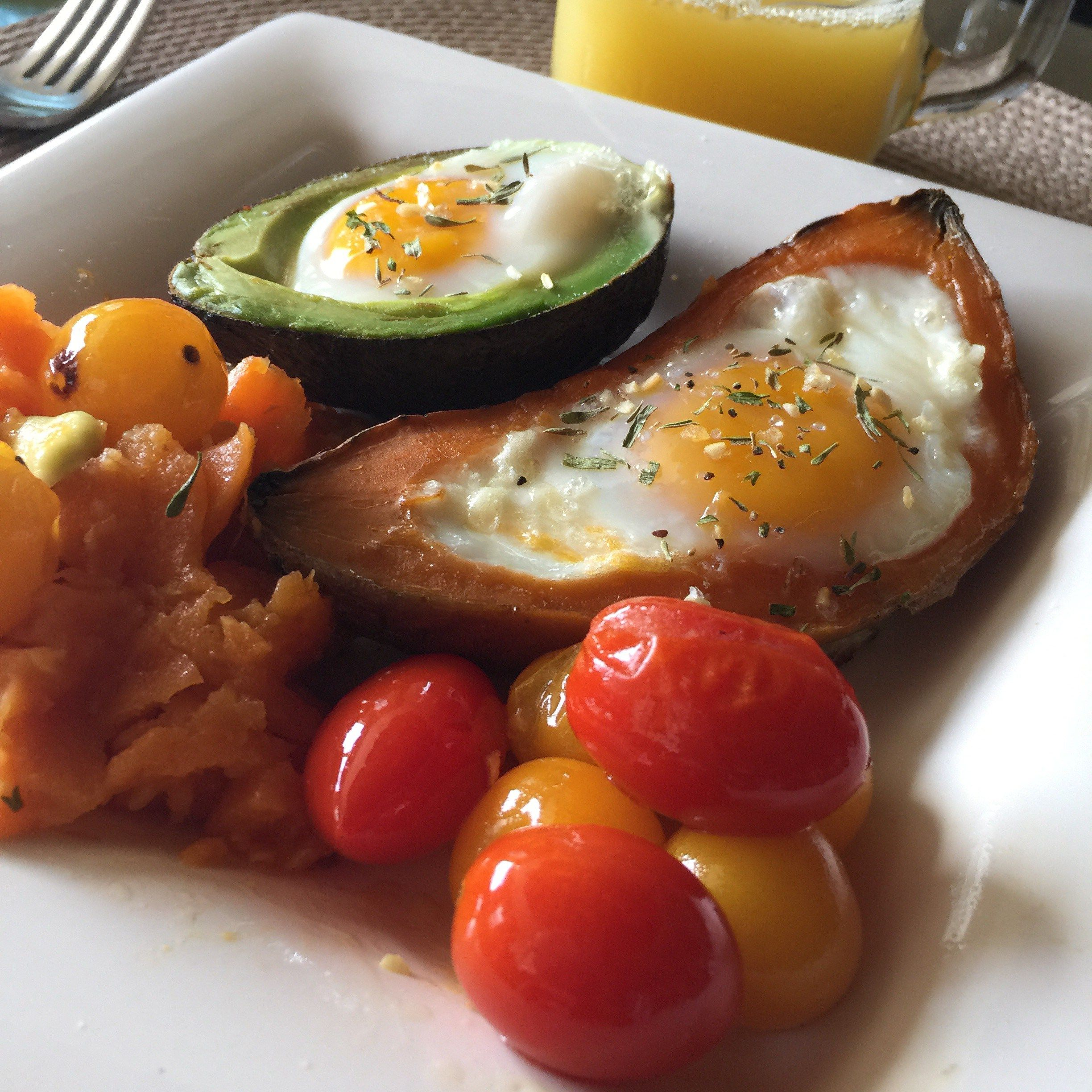 Baked Eggs 2 Ways – Sweet Potato X Avocado | Colorful Foodie