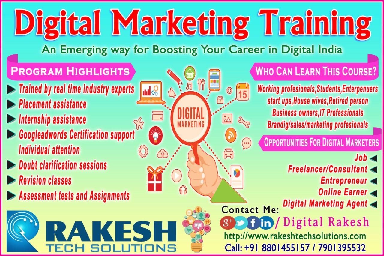 Best Digital Marketing Training In Hyderabad Digital Marketing Training Digital Marketing Web Marketing