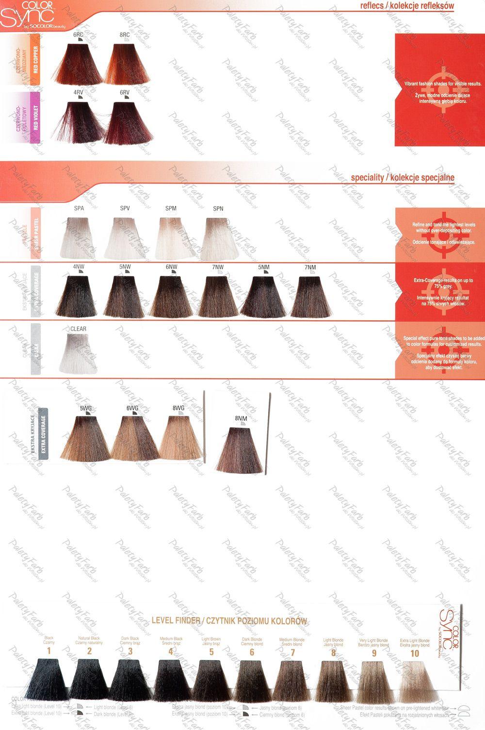 paleta matrix color sync paleta kolorw farb do wosw - Matrix So Color Swatch Book
