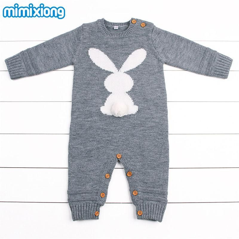 262c57b845a Baby Boys Rompers Winter 2018 Newborn Girls Christmas Jumpsuits Long  Sleeves Infant Bebe Overalls Knitted Toddler One Piece Wear