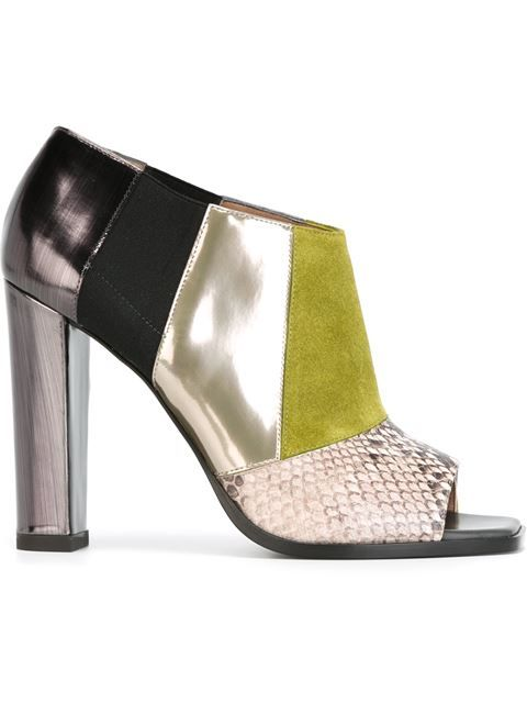 patchwork booties by Pollini. Italianist.com