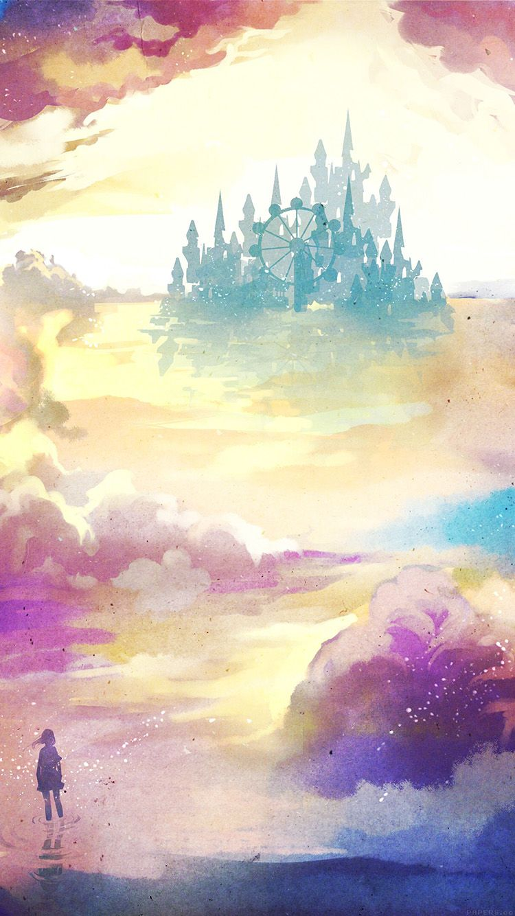 Ag06 Kanehiko Fantasy Illust Watercolor Art Watercolor Wallpaper