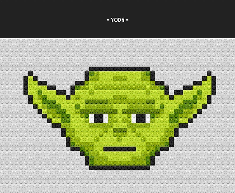 Pixelart Yoda Pixel Art Projects Graphic Pinterest