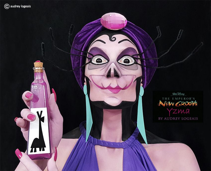 Disney Villains YZMA make up  Audrey Logeais