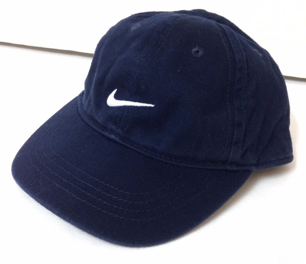Infant Adjustable Size (boy girl baby toddler) NIKE SWOOSH HAT Navy Relaxed 693105b6c343