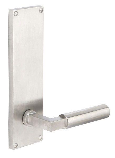 Emtek S801 In 2020 Brushed Stainless Steel Door Handles Steel Doors