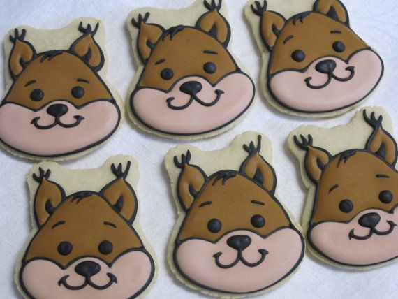 Forest Friends Sugar Cookies: Squirrel by MartaIngros on Etsy