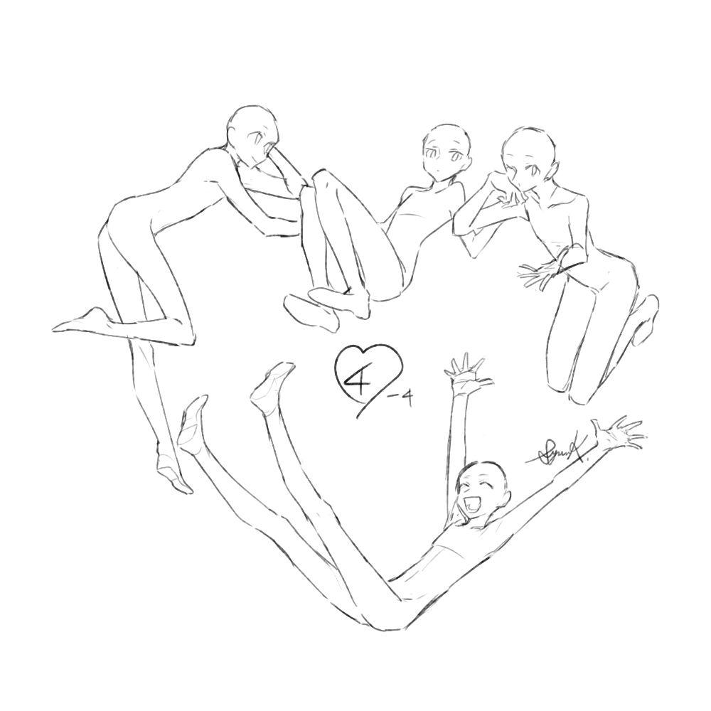トレス可環状構図集 11 人体描き方 絵の描き方スケッチ描き方