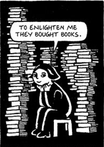 To Enlighten Me They Bought Books Persepolis Book Books Graphic Novel