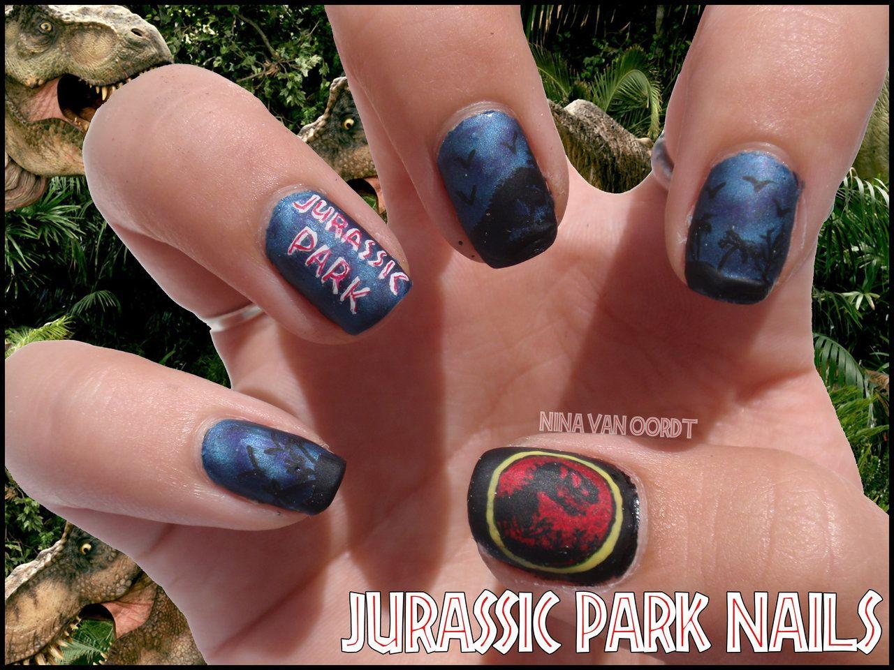 Jurassic Park Nails by JawsOfKita-LoveHim.deviantart.com on ...
