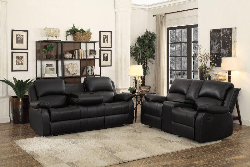 Homelegance He 9928blk Sl 2 Pc Clarkdale Black Bi Cast Vinyl Sofa And Love Seat Set Recliner Ends Leather Couches Living Room Modern Living Room Black Affordable Living Room Furniture