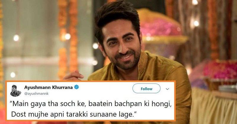 27 Tweets By Ayushmann Khurrana That'll Make You Fall In Love With His Shayaris is part of Ayushmann khurrana -