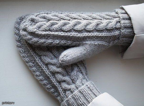Вязание варежек и носок спицами 85