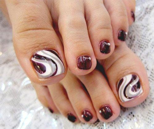 Elegant Fall Autumn Toe Nail Art Designs Ideas Trends Stickers 2014 2 Jpg 500 419 Toenail Art Designs Cute Toe Nails Pedicure Nail Art