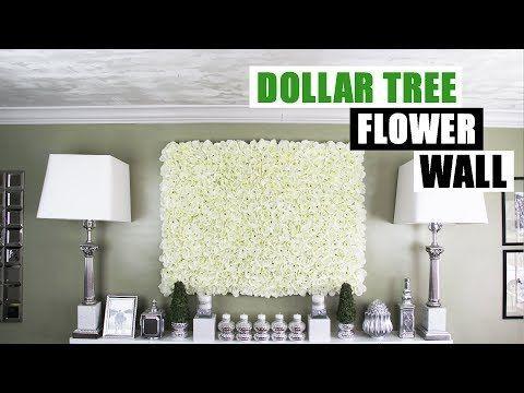 diy dollar tree flower wall diy floral wall home decor youtube