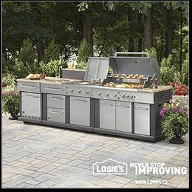 Lowe S Outdoor Oasis Sweepstakes Modular Outdoor Kitchens Outdoor Kitchen Outdoor Kitchen Appliances