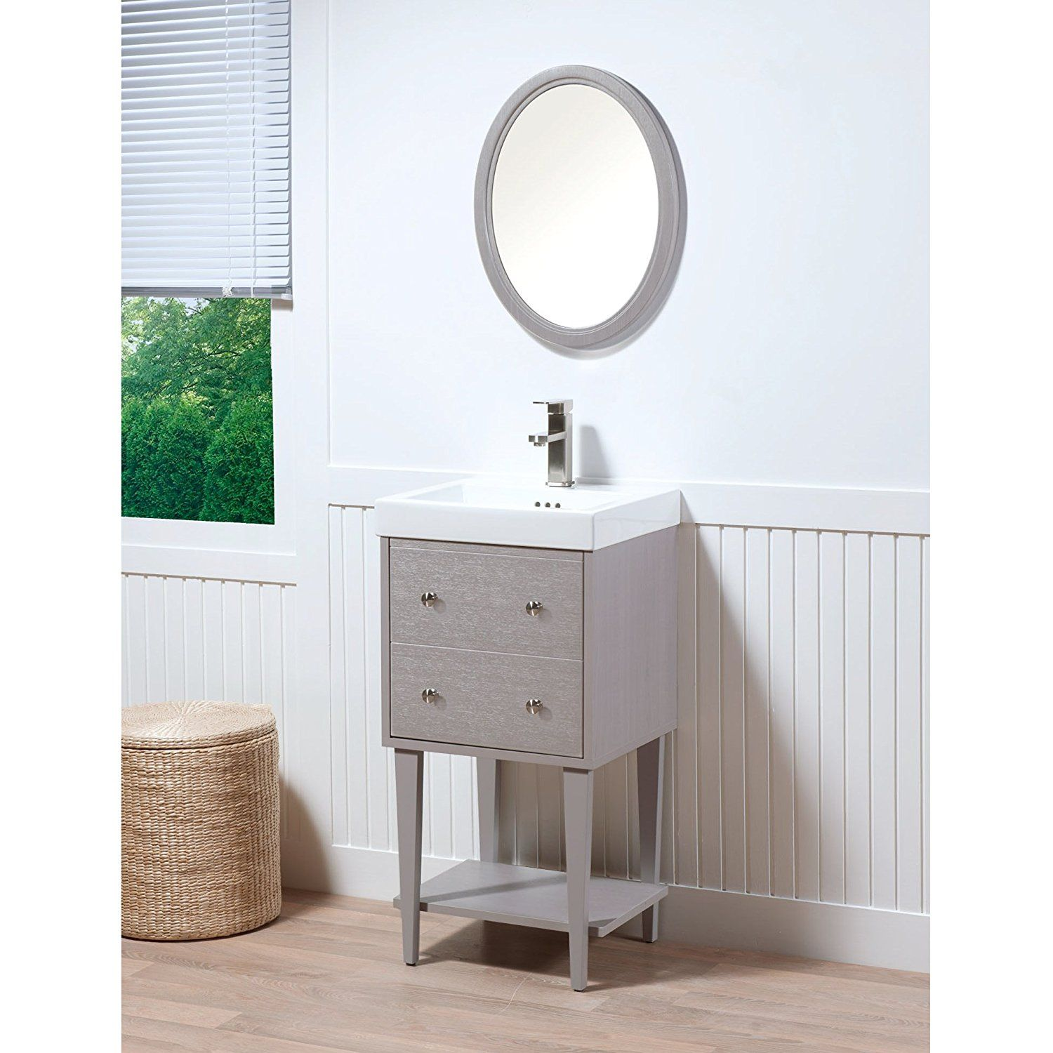 maykke fawn 19 inch bathroom vanity set in birch wood drift