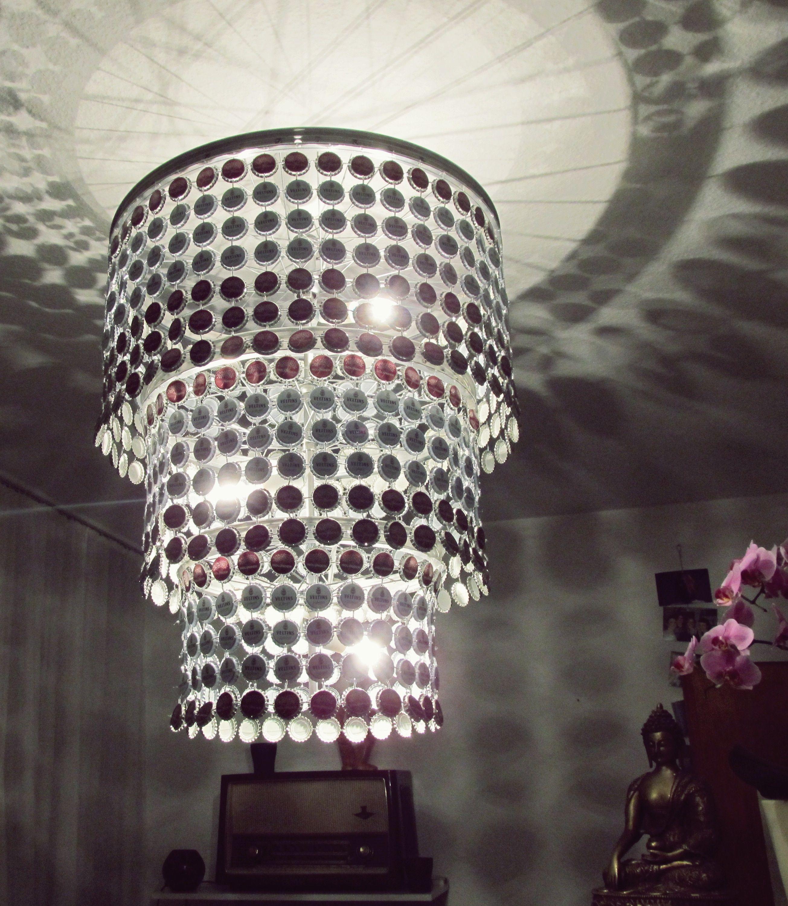 Kronkorken Lampe Veltins DIY | lampen | Pinterest | Veltins ...