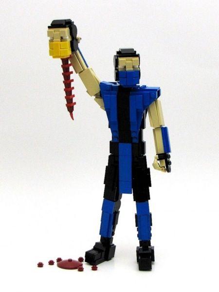 LEGO Sub Zero Performs a Fatality #lego #mortalkombat #awesome   Art ...
