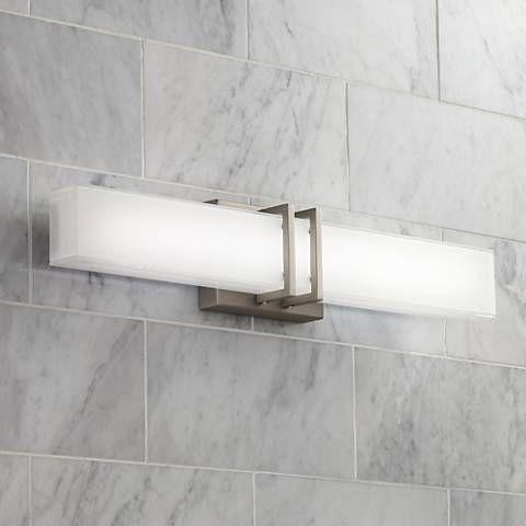 Possini Euro Exeter 24 W Nickel Led Bathroom Vanity Light