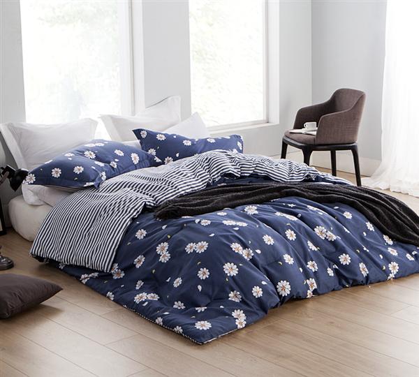 Oversize Full Comforter sets Navy Blue In Stock Dorm