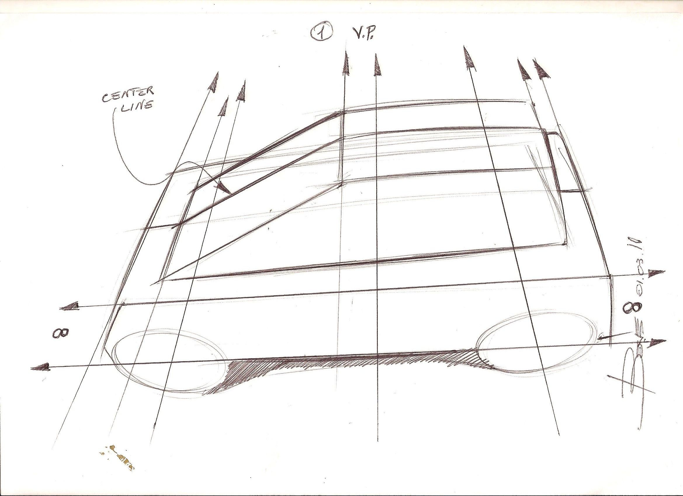 How to Draw a Car in Top View Perspective | Pinterest | Perspective ...