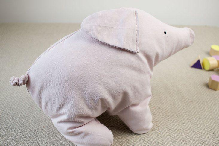 Lottas Teddy: Nähanleitung für den Schweinebär #strickenundnähen