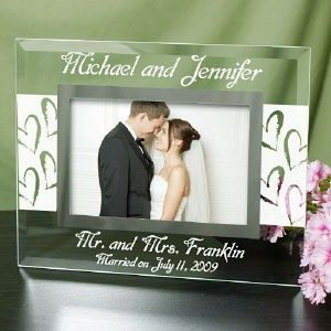 Personalized Wedding Gl Picture Frame Engraved Gift