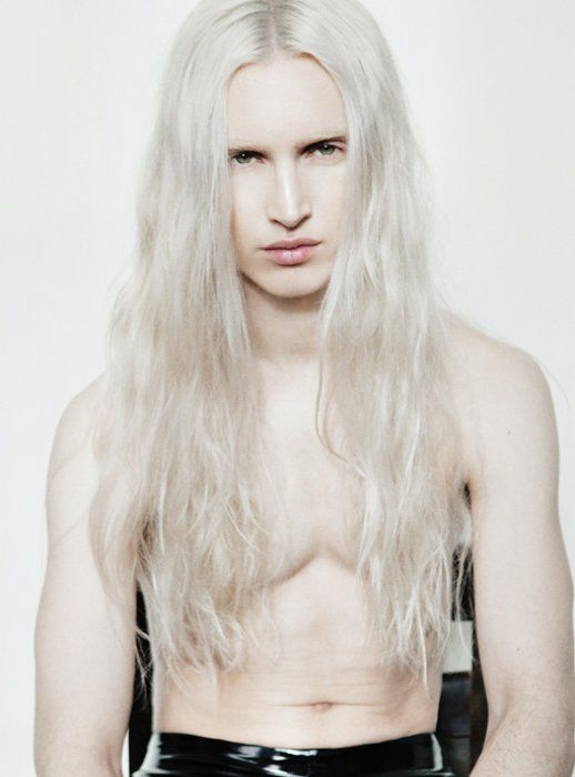Jose Wickert Platinum Long Haired Men White Hair Men