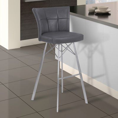 Armen Living Spago 26 In Counter Height Metal Bar Stool