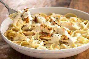 Olive Garden's Chicken Fettuccine Alfredo Recipe #chickenalfredo