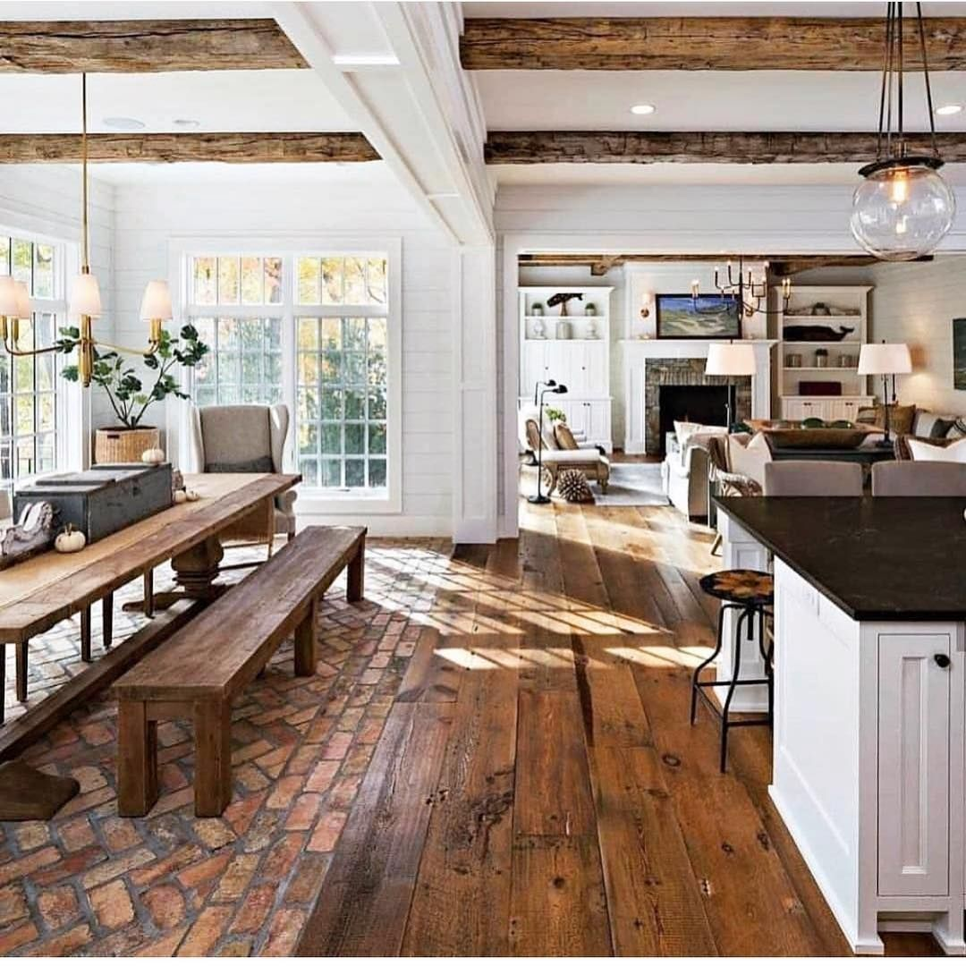 Talk About An Open Floor Plan Follow Us Moderncottagedecor Moderncottagedecor House Interior Rustic Country Kitchens Home Remodeling