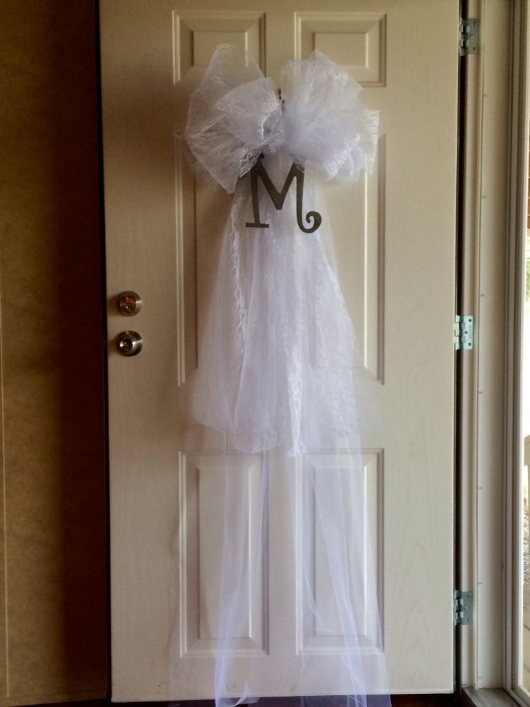 Wedding Veil Door Decoration For Brook 39 S Shower Projects