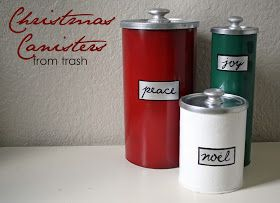 Running With Scissors: Christmas Canisters...from Trash