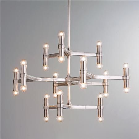 Modern Bamboo Inspired Chandelier Chandeliers Modern and Lights