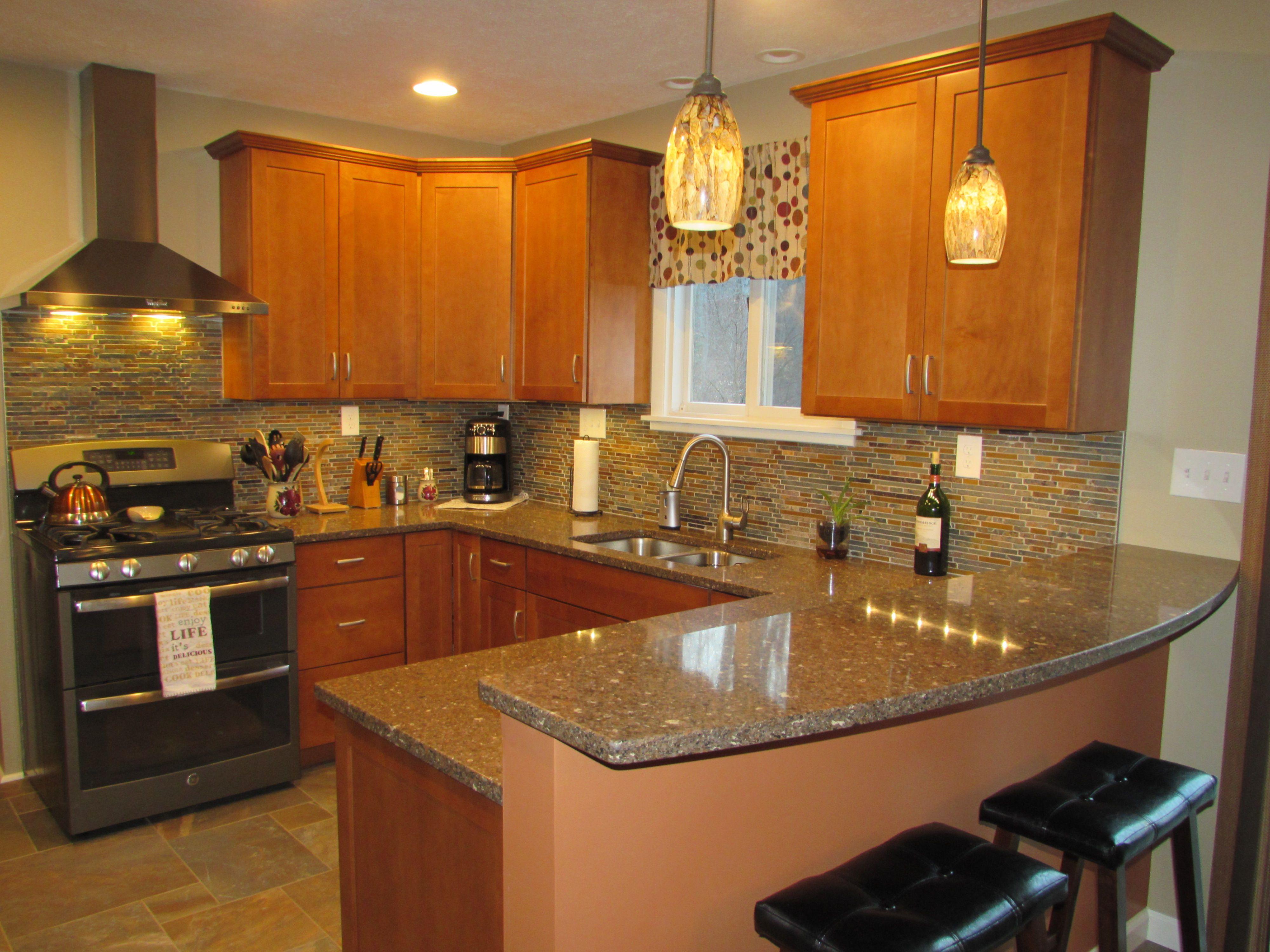New Kitchenlove My Breakfast Bar Schrock Cabinets In Maple Prepossessing Design New Kitchen Design Inspiration