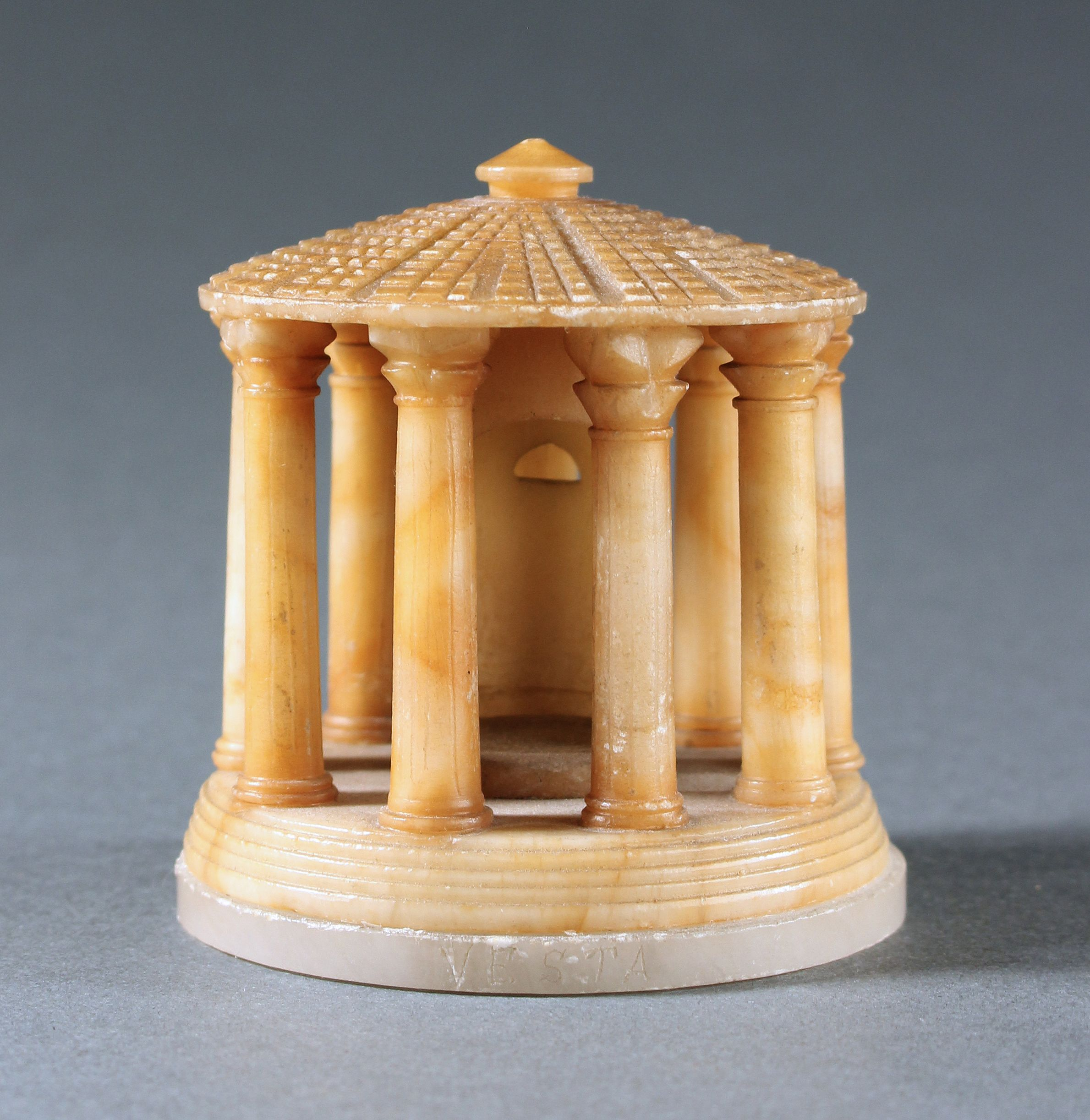 Temple Of Hercules Vesta In Alabaster Stock Preview