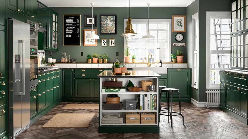 Kitchen Design Green Cabinets, Affordable Sustainable Kitchen Cabinets