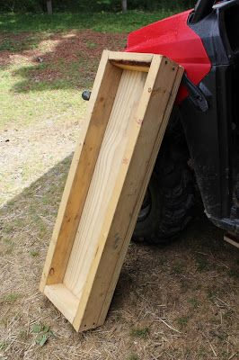 Easy to build hog trough, homemade pig feeder. Directions on building a livestock feeder.