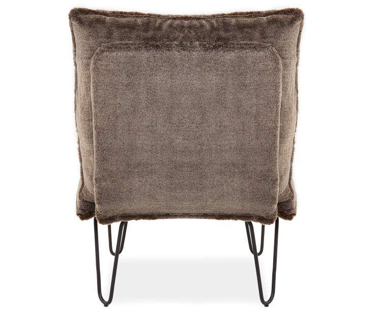 Fantastic Brown Faux Fur Armless Accent Chair Beautiful Spaces Dailytribune Chair Design For Home Dailytribuneorg