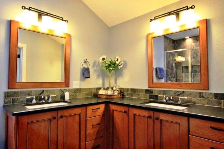 Double Corner Vanity Bathroom Units