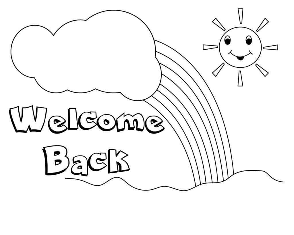Welcome Back Coloring Pages To Print