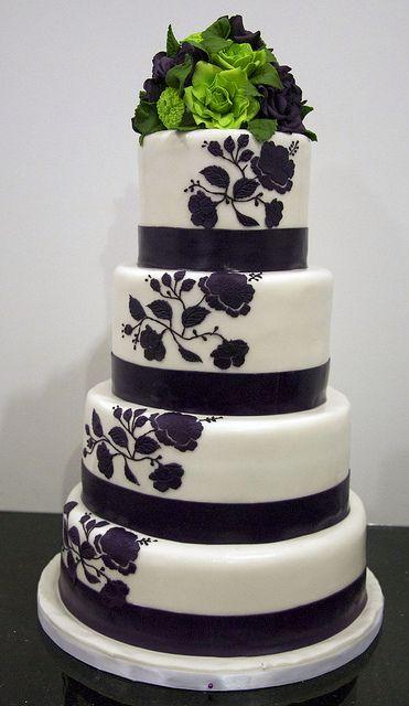 W9066 Grape Lime Wedding Cake Purple Wedding Cakes Lime Green