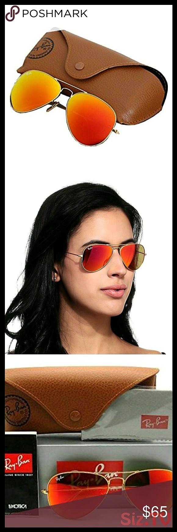 RayBan Aviator Sungkasses Gold Orange Flash Lens Iconic RayBan Aviator Sunglasses with gold mat frame and flash orange mirror lenses beach or city RayBan Aviator Sungkass...