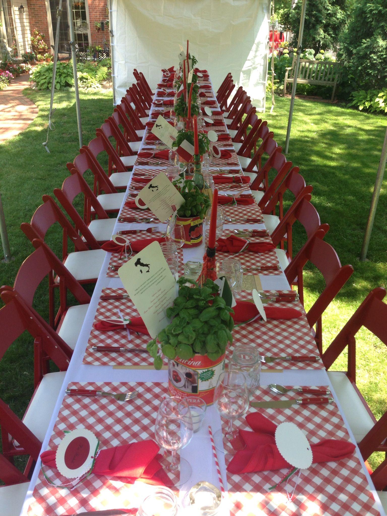 Italian Table Setting Italian Themed Parties Italian Dinner
