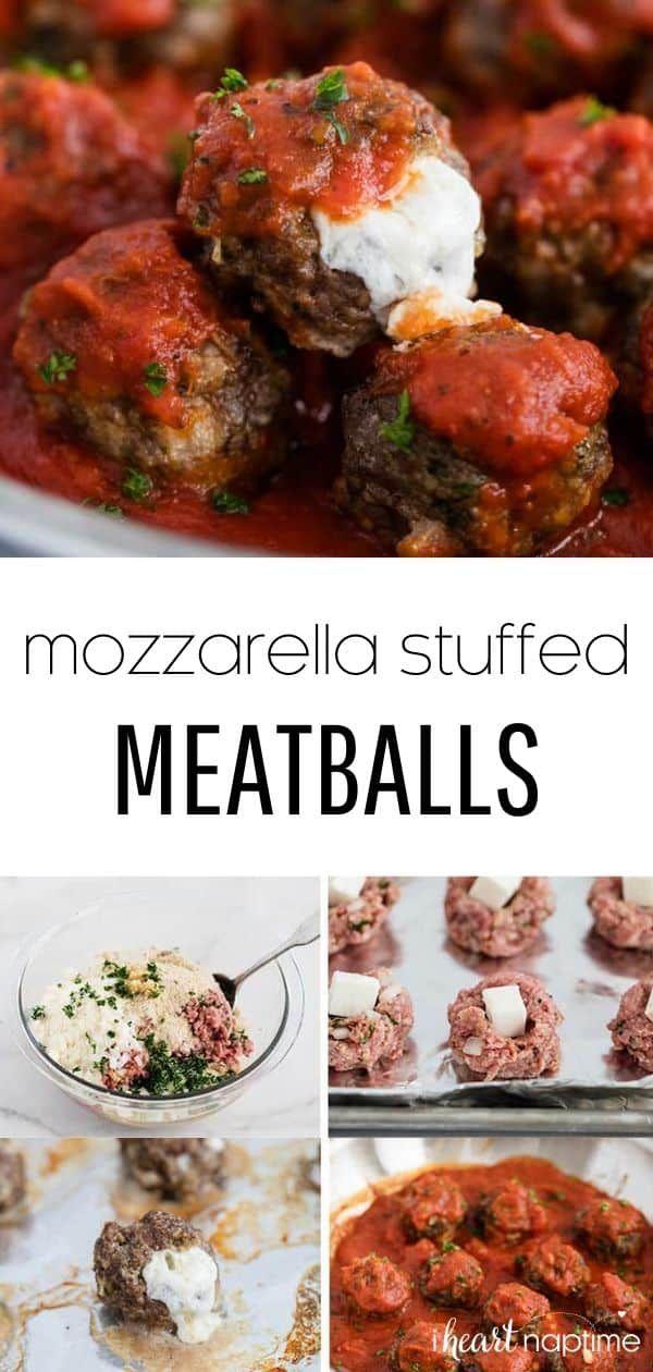 Photo of Baked Mozzarella Stuffed Meatballs – I Heart Naptime